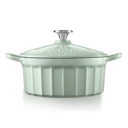 BUYDEEM Enameled Cast-Iron French (Dutch) Oven green 2.9L round