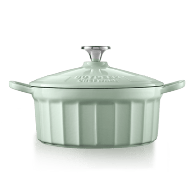 Product Detail - BUYDEEM Enameled Cast-Iron French (Dutch) Oven green 2.9L round - image  0