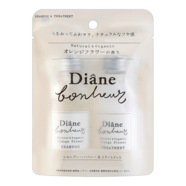 Product Detail - MOIST DIANE BONHEUR Natural & Organic Shampoo and Treatment Travel Set 40ml+40ml - image 0