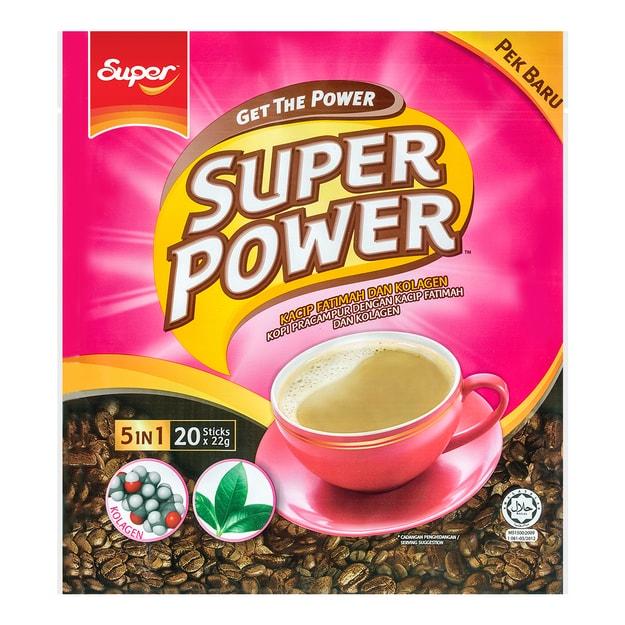 商品详情 - 新加坡SUPER超级 五合一卡琪花蒂玛胶原蛋白咖啡 20条入 440g - image  0