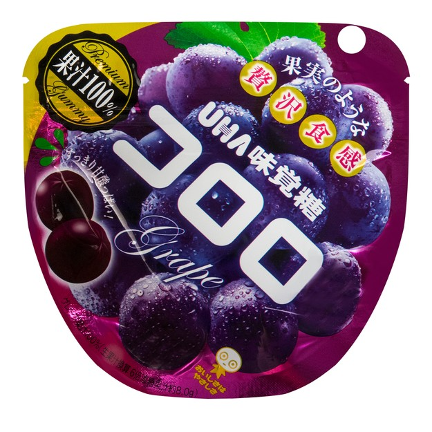 商品详情 - 日本UHA悠哈 味觉糖 纯正100%紫葡萄口感果汁软糖 40g - image  0