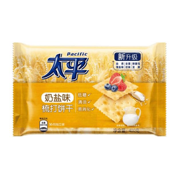 商品详情 - 太平 梳打饼干 奶盐味 400g - image  0
