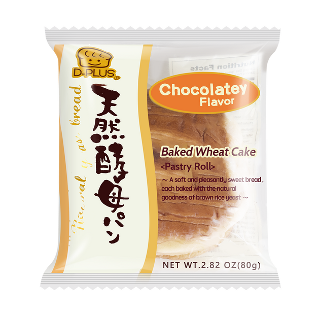 Product Detail - D-PLUS Natural Yeast Bread Chocolate Flavor 80g - image 0