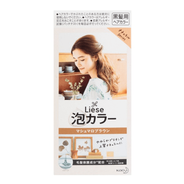 KAO LIESE PRETTIA Bubble Hair Dye Marshmallow Brown 1set @Cosme Award No.1