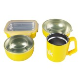 THINKBABY The Complete BPA Free Feeding 4pcs Set #Yellow
