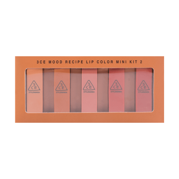 3CE Mood Recipe Lip Color Mini Kit 2 5 Pieces