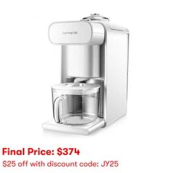 【全美最低价】Joyoung 九阳 多功能破壁豆浆机 DJ10U-K61 免过滤免手洗 智能预约 可当咖啡机果汁机饮水机 #白色 可磨咖啡豆