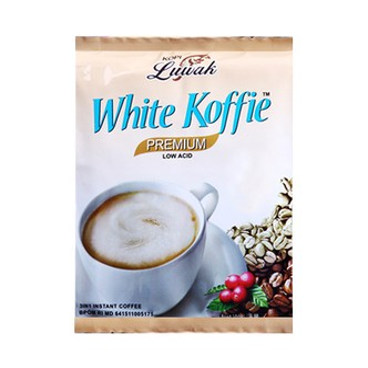印尼KOPI LUWAK 三合一速溶低卡低酸猫屎白咖啡 20gx20包入