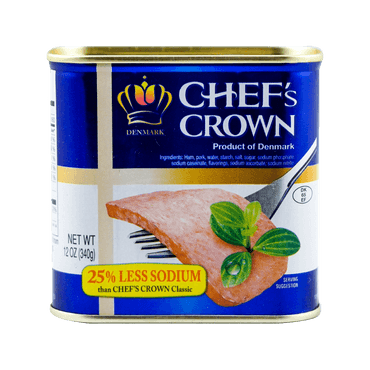 CHEF'S CROWN Premium Low-Salt Luncheon Meat 340g