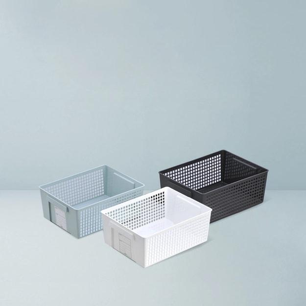 商品详情 - 网易严选 日本制造 抽拉式标签收纳篮 黑色-大号 - image  0