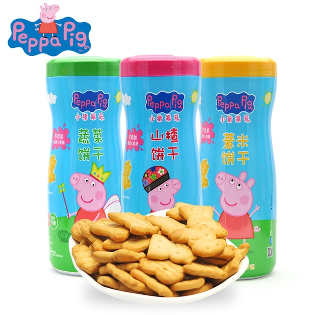 Product Detail - Peppa Pig  hawthorn flavor biscuits100g*3pots - image 0