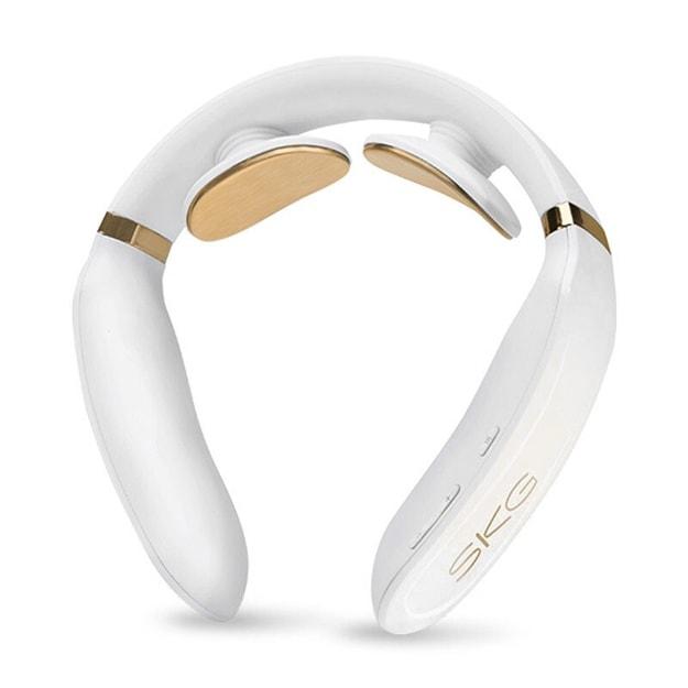 商品详情 - 【SKG官方旗舰】K6 颈部按摩仪 珍珠白 送含有草本精华舒缓凝胶贴2对 1对可用7天 - image  0