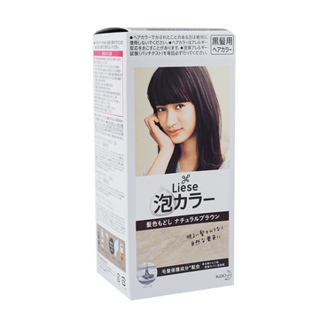 KAO LIESE PRETTIA Bubble Hair Dye Natural Brown 1set