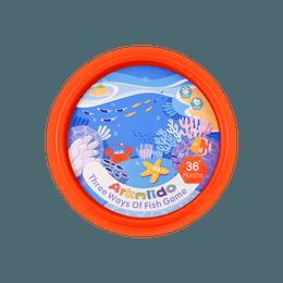 Arkmiido 儿童磁力木制钓鱼游戏玩具 木制玩具 三合一钓鱼 JH-105 24月以上