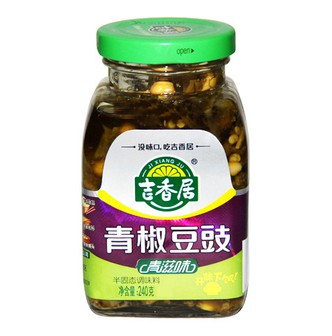 JXJFOOD Green Pepper with Marinated Soy Bean 240g