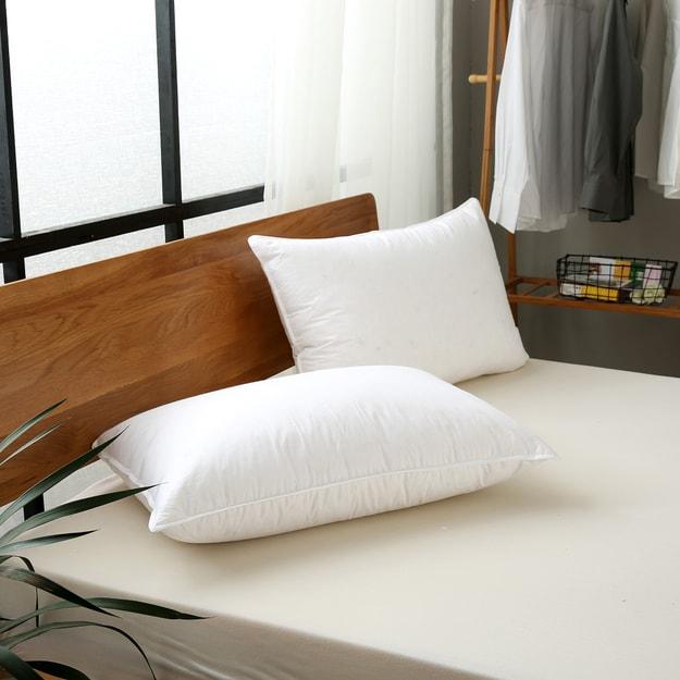 商品详情 - Premium Down 酒店全棉羽绒白鹅毛护颈枕头 2只入 Standard - image  0