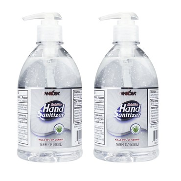 [Combo] USA Panrosa Hand Sanitizer Gel Alcohol Free 500ml 16.9 fl oz [2 Bottles]