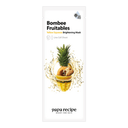PAPA RECIPE Bombee Fruitables Yellow  Squeeze Brightening  Mask 1 sheet