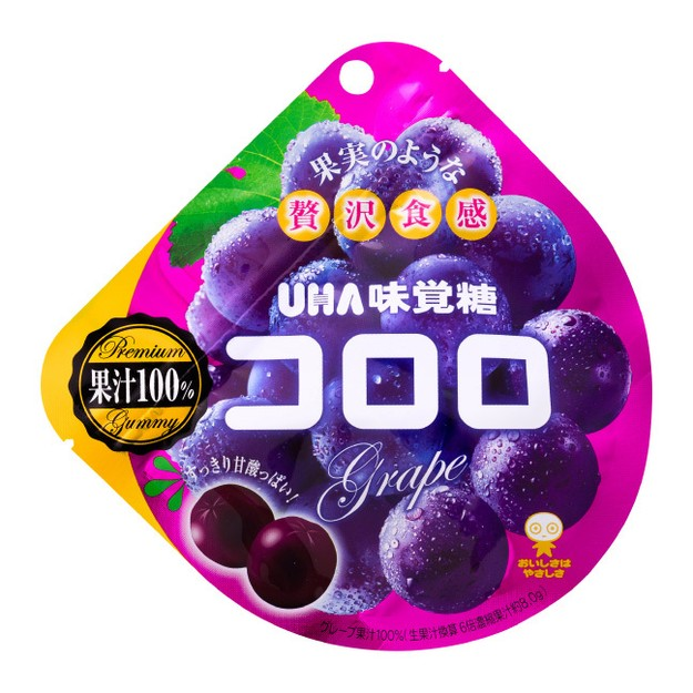 Product Detail - UHA Mikakuto Kororo Grape Gummy 48g - image 0