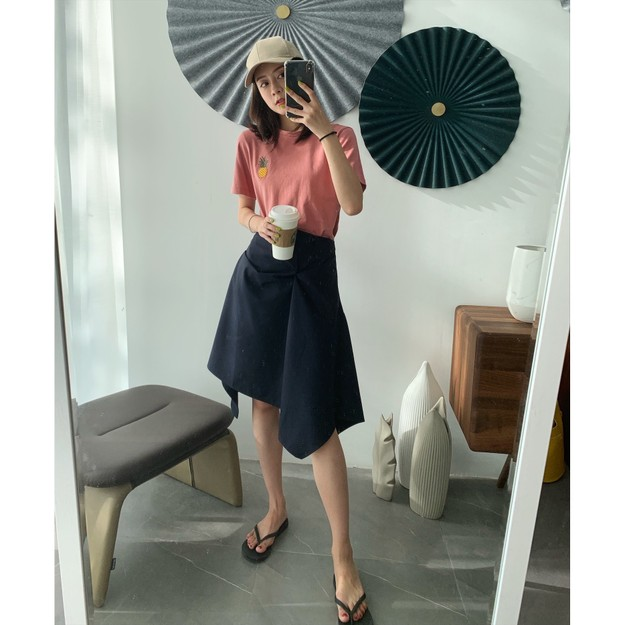 Product Detail - PRINSTORY 2019 Spring/Summer Design Style Skirt Long/Navy/S - image 0