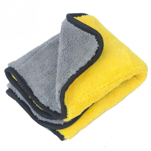 Product Detail - LORDUPHOLD Car Cleaning Cloth Thick Plush Microfiber Wash Towel Cloth Durable Wax Polishing Detailing Towel 38*45cm 1 pc - image 0
