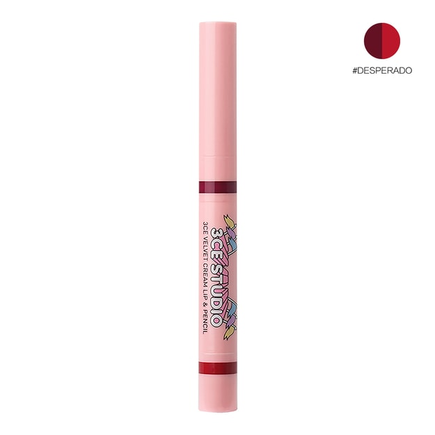 3CE Studio Velvet Cream Lip & Pencil #desperado 3.2g+0.2g