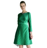 BIRRYSHOP   Lace  dress green  L