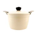 "EELA Deep Stockpot Sauce Pot Cast Aluminium Lid 10"" (26 cm) #Ivory"