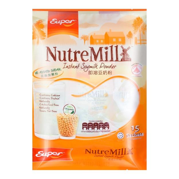 Product Detail - SUPER NutreMill Instant Soymilk Powder No Added Sugar 30g*15Sticks - image 0