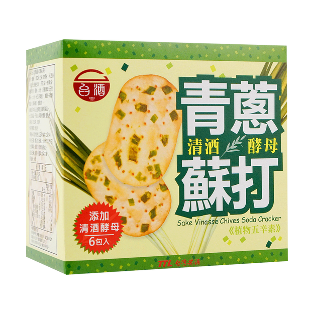 Product Detail - TAIJIU Sake Vinasse Chives Soda Cracker 120g - image 0