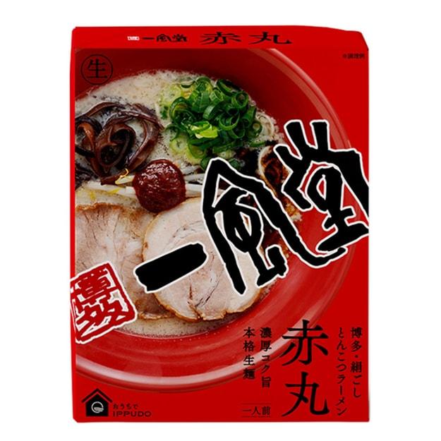 商品详情 - 【日本直邮】博多第一拉面 一风堂赤辛红丸拉面煮面版 1盒 - image  0