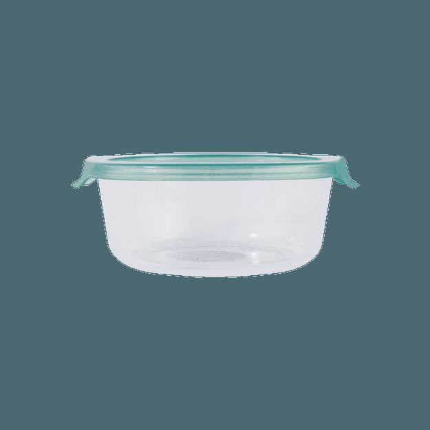 商品详情 - 名创优品Miniso 简易盖中号圆形玻璃碗 620ml  绿色 - image  0