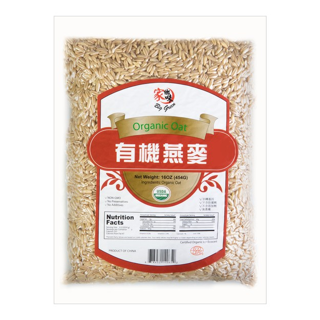 Product Detail - BIG GREEN Organic Oat 454g USDA - image 0