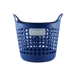 日本INOMATA 塑料收纳筐 中号 深蓝色