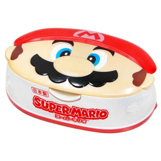 Product Detail - LEC Super Mario Face Type Case Wet Tissue 80sheets - image 0