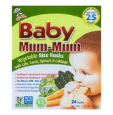 Hot Kid Baby Mum-Mum Vegetable Rice Rusks 50g  6M+