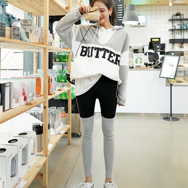 Product Detail - SSUMPARTY Anorak Hoodie+Colorblock Leggings #Grey One Size(S-M) - image 0
