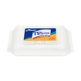 Mioszzi Antibacterial Disposable Cloths 75% Alcohol Wipes 50 pcs Kills 99.99% of germs & bacteria