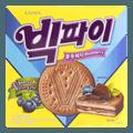 韩国CROWN 巧克力蓝莓夹心饼干 298g