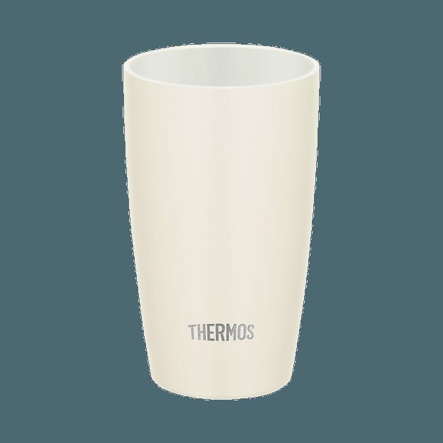 商品详情 - THERMOS 膳魔师||高颜值陶瓷感真空隔热保温杯JDM-340||白色 340ml - image  0