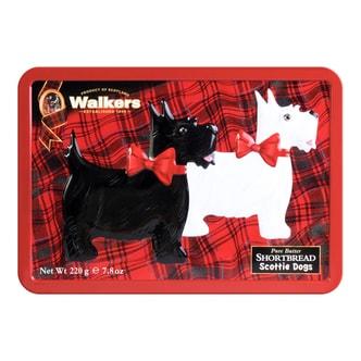 WALKERS Scottie Dog Shaped Shortbread Gift Tin 220g