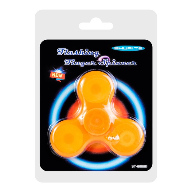 Product Detail - LED Light Hand Spinner Fidget Toy For Kids And Adults #Orange - image 0