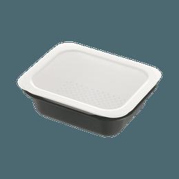 Richell 利其尔||Colander&Vat 长方形带盖实用抑菌保鲜盒||M 深灰色 1个