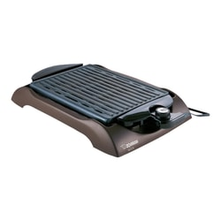 ZOJIRUSHI Indoor Non-Stick Coating Adjustable Thermostat Control Electric Grill #BROWN EB-CC15TA