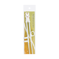 "Japanese Style 8.5""L Kid Plastic Training Chopsticks 1 Pair #Rabbit"