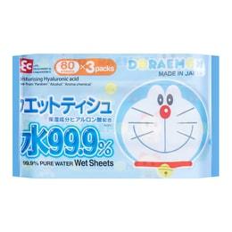 LEC Doraemon Wet Tissue 80 Sheets*3 Packs