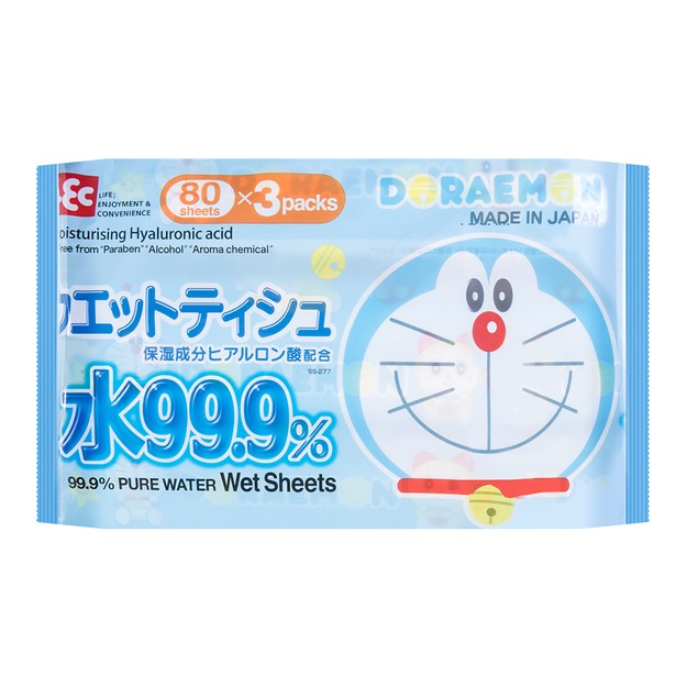 Product Detail - LEC Doraemon Wet Tissue 80 Sheets*3 Packs - image 0
