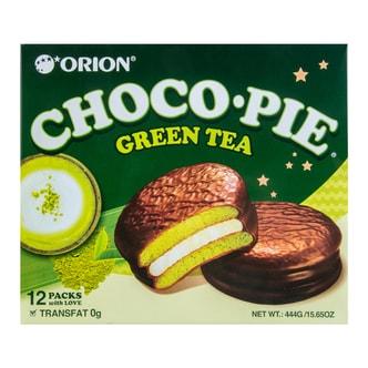 ORION Choco Pie Green Tea 144g 12pcs