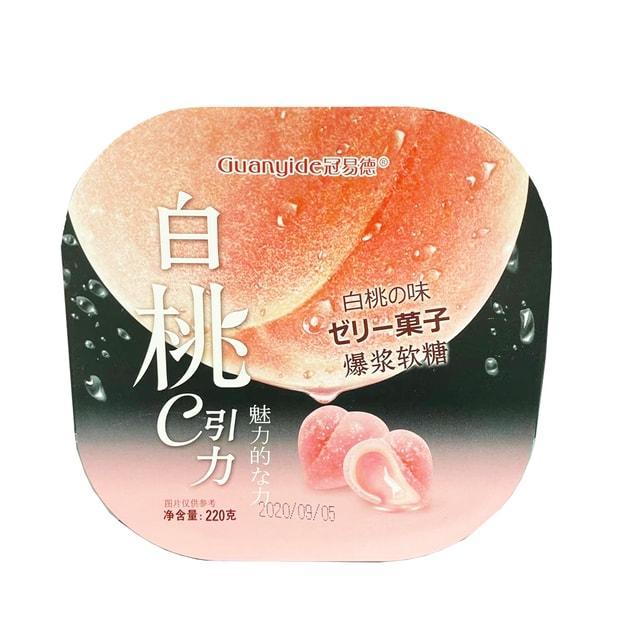 商品详情 - 冠易德 白桃味爆浆软糖-220G - image  0