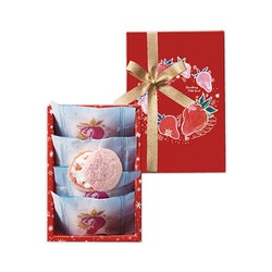 ANTENOR Winter Limited Strawberry Milk Sand Sandwich Biscuit Cookies 4pc